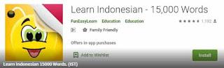 Aplikasi belajar bahasa Indonesia untuk smartphone