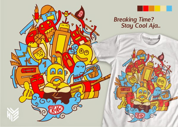 Desain kaos Gantibaju, desain kaos, t shirt design