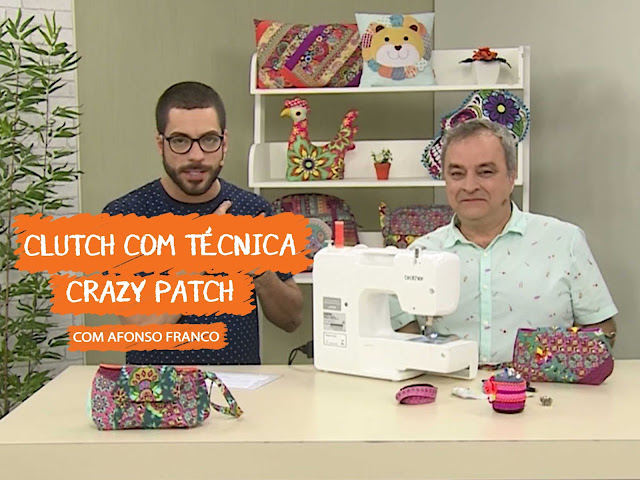 Aula - Clutch com Técnica Crazy Patch com Afonso Franco