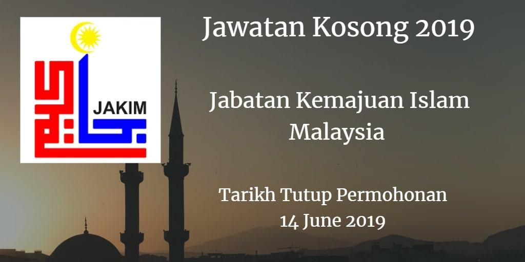 Jawatan Kosong JAKIM 14 June 2019