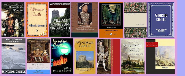 portadas de la novela histórica El castillo de Windsor, de William Harrison Ainsworth