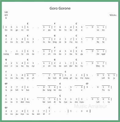not angka lagu goro gorone