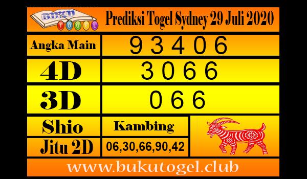 Prediksi Togel Sydney 29 Juli 2020