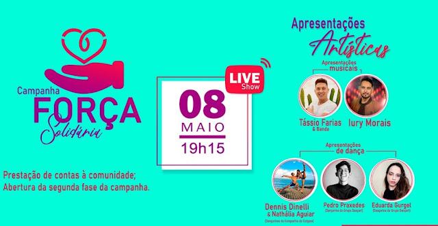 Campanha Força Solidária terá Live Show neste sábado em Caraúbas