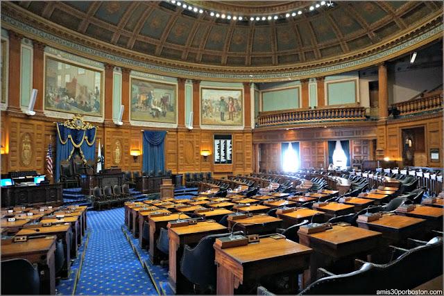 Cámara de los Representantes en el Massachusetts State House