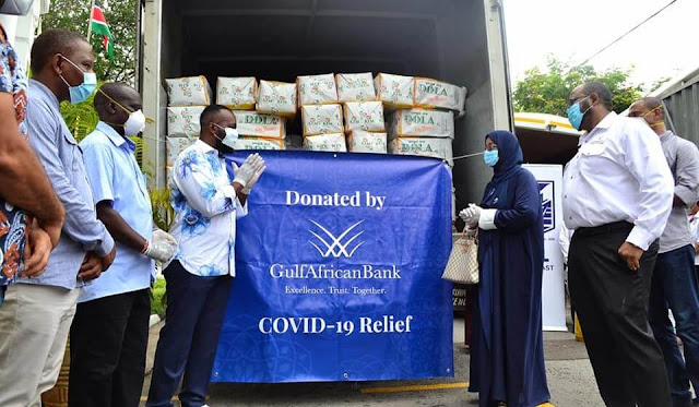 Mombasa tycoon Suleiman Shahbal business donates 8 tonnes of food.