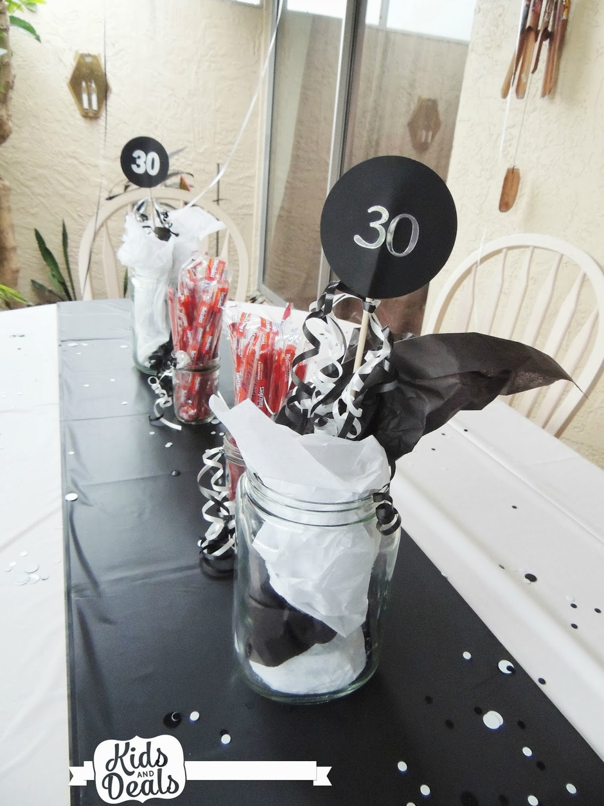 Table Decoration Ideas 30th Birthday