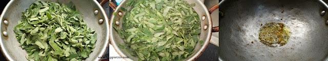 Step 1 - Agathi Keerai Poriyal