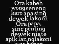 Pepatah atau Kata Mutiara Dalam Bahasa Jawa