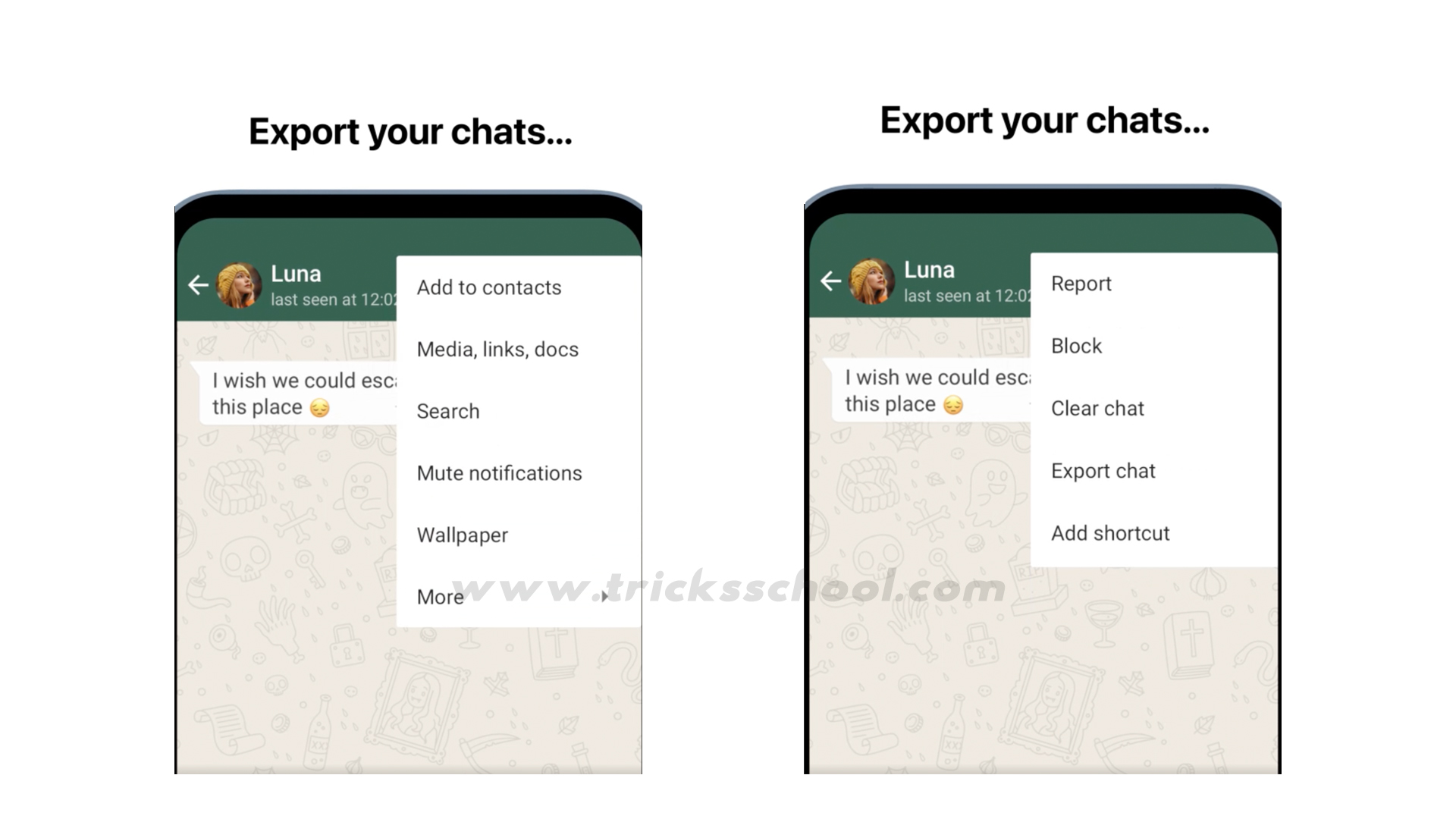 Android Chat Export