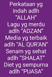 Ucapan selamat puasa Islami