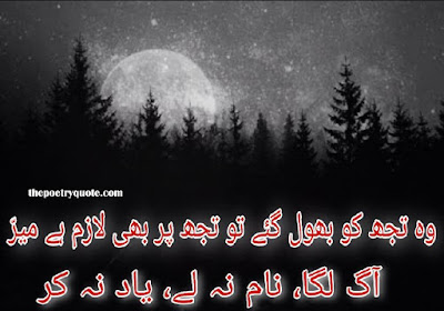 Urdu Sad Poetry | Urdu Sad Poetry 2 Lines