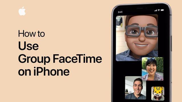 كيفية, عمل, Group ,FaceTime, على, جهاز, آيفون, أو, آيباد