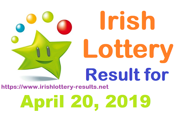 Irish Lottery Results for Saturday, April 20, 2019
