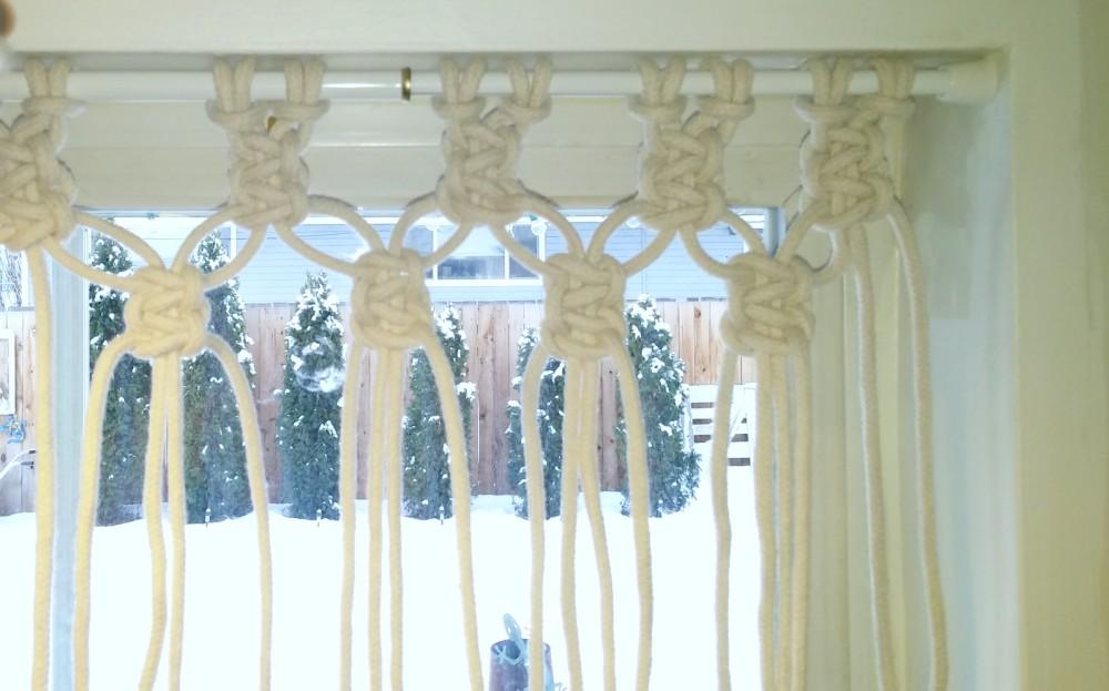 Macrame Window Curtain