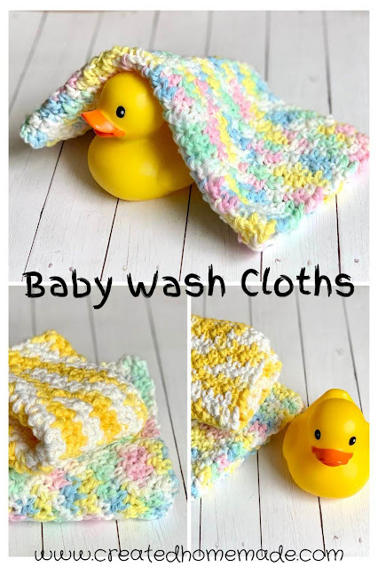 Crochet Baby Wash Cloths