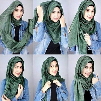 Tutorial Simple Jilbab Pashmina Sifon Terbaru