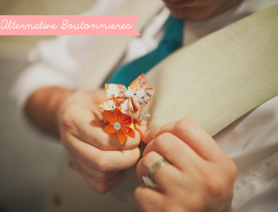 Alternative boutonniere, groom