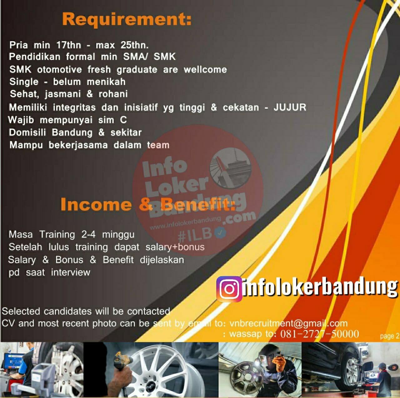 Lowongan Kerja 2 Junior Mechanics Vertical Bandung November 2020