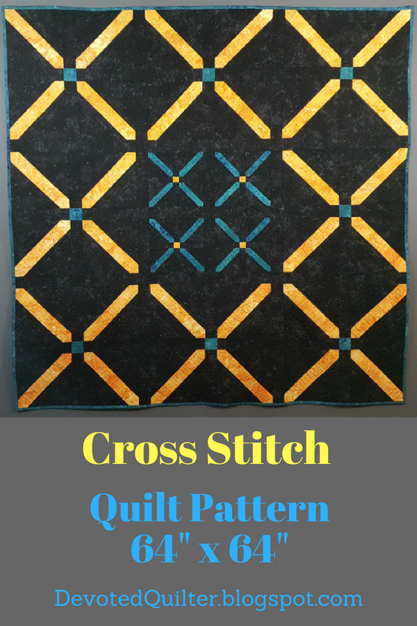 Cross Stitch quilt pattern | DevotedQuilter.blogspot.com