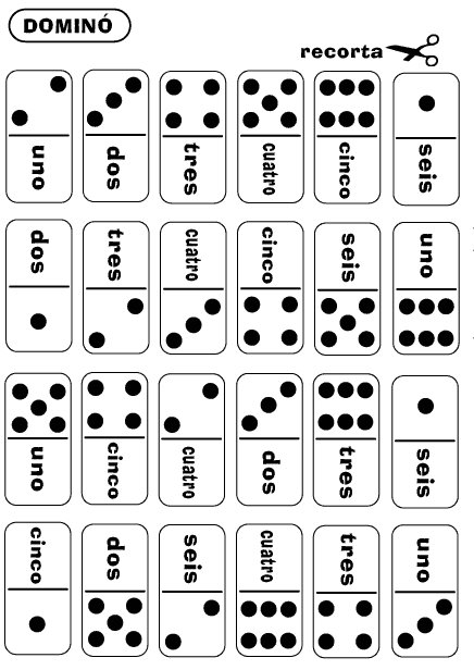 picture relating to Printable Dominos named Training Español: Domino Quantities Recreation inside Spanish