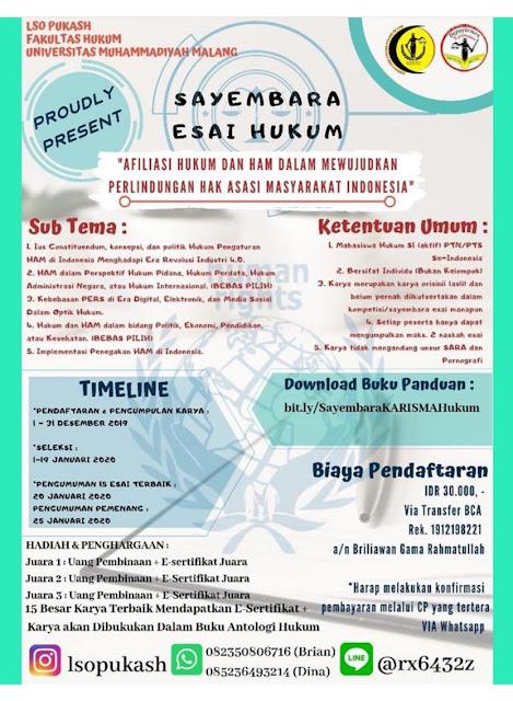 Sayembara Essay Hukum Universitas Muhammadiyah Malang
