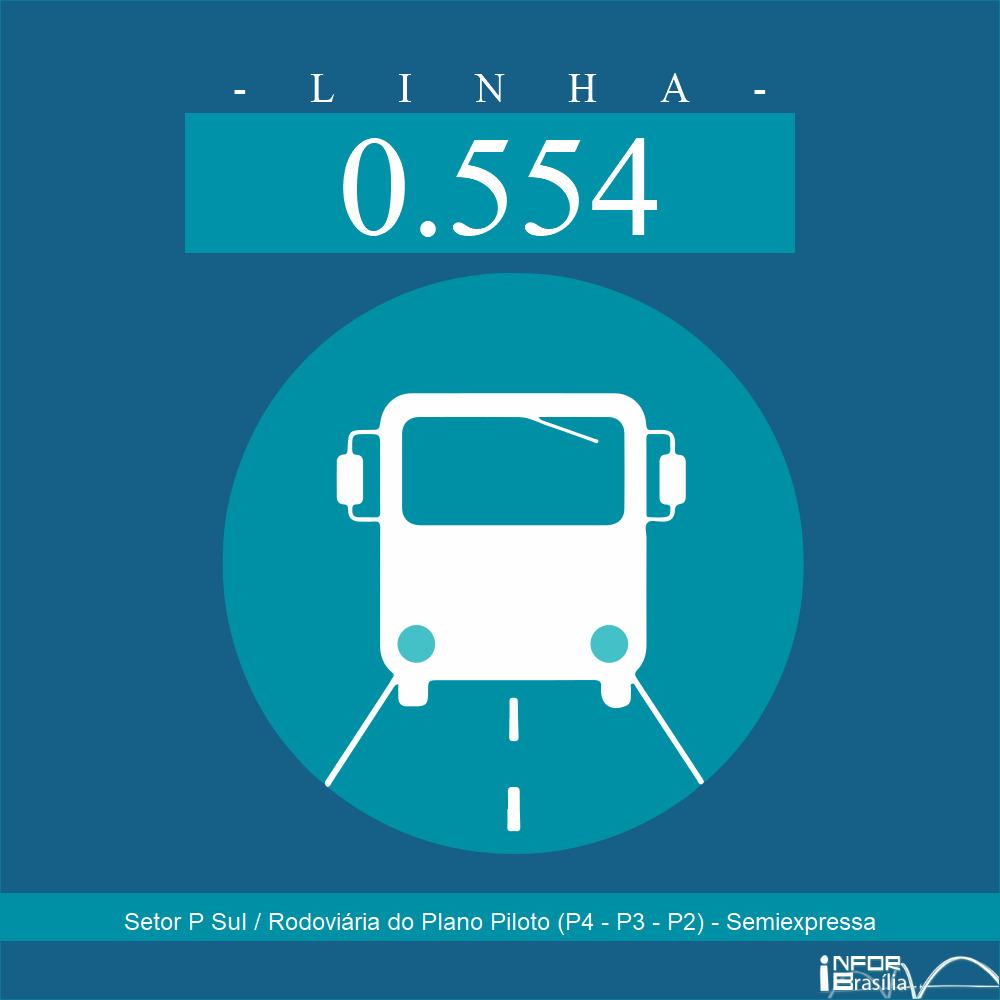 Horário de ônibus e itinerário 0.554 - Setor P Sul / Rodoviária do Plano Piloto (P4 - P3 - P2) - Semiexpressa
