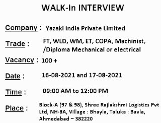 Yazaki India Private Limited Recruitment For ITI and Diploma Holders || Walk In Interview