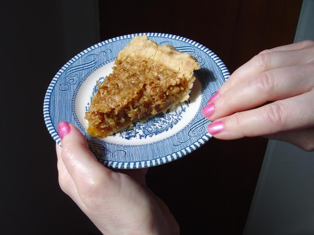 A Piece of Mock Pecan Pie Image