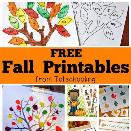 Totschooling - Toddler, Preschool, Kindergarten Educational Printables