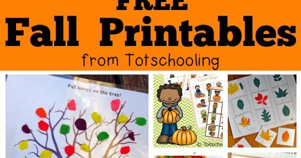 Free Fall Printables For Kids