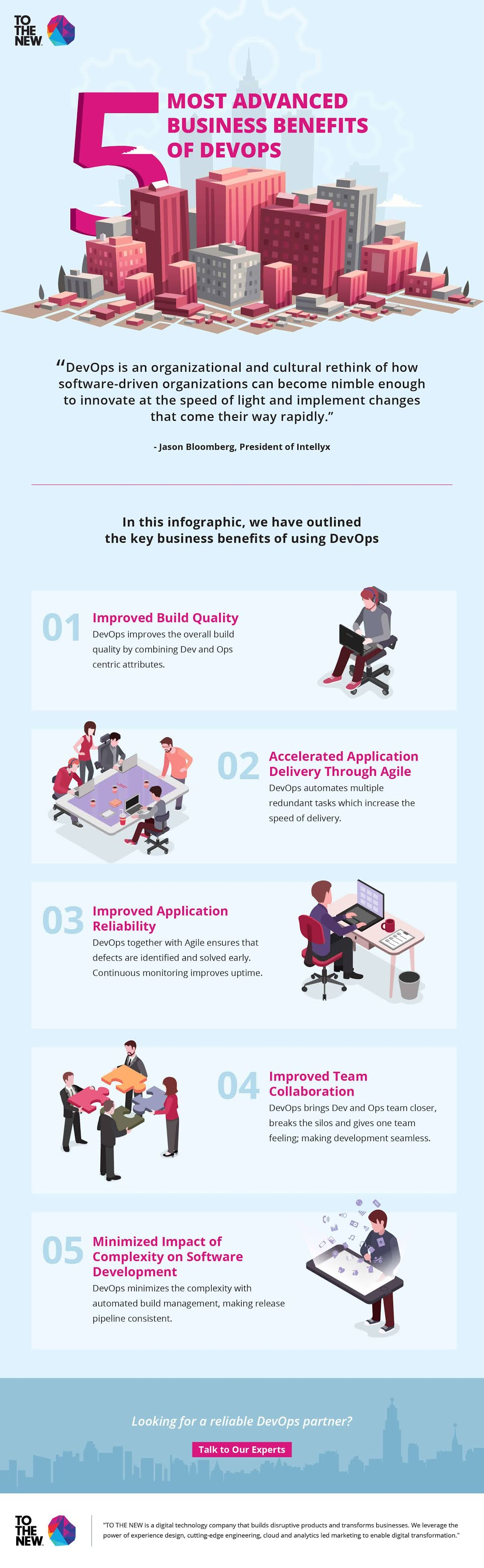 Top 5 Most Advanced Business Benefits of DevOps #infographic #Product Engineering #Software Development #Technology #Business #Business Benefits