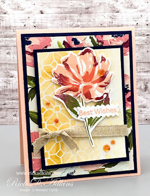 Stampin' Up! Art Gallery - Best Wishes Card by Rick Adkins