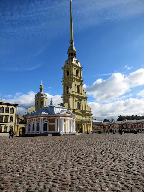 Cathedral at Peter and Paul Fortress in St. Petersburg, Russia