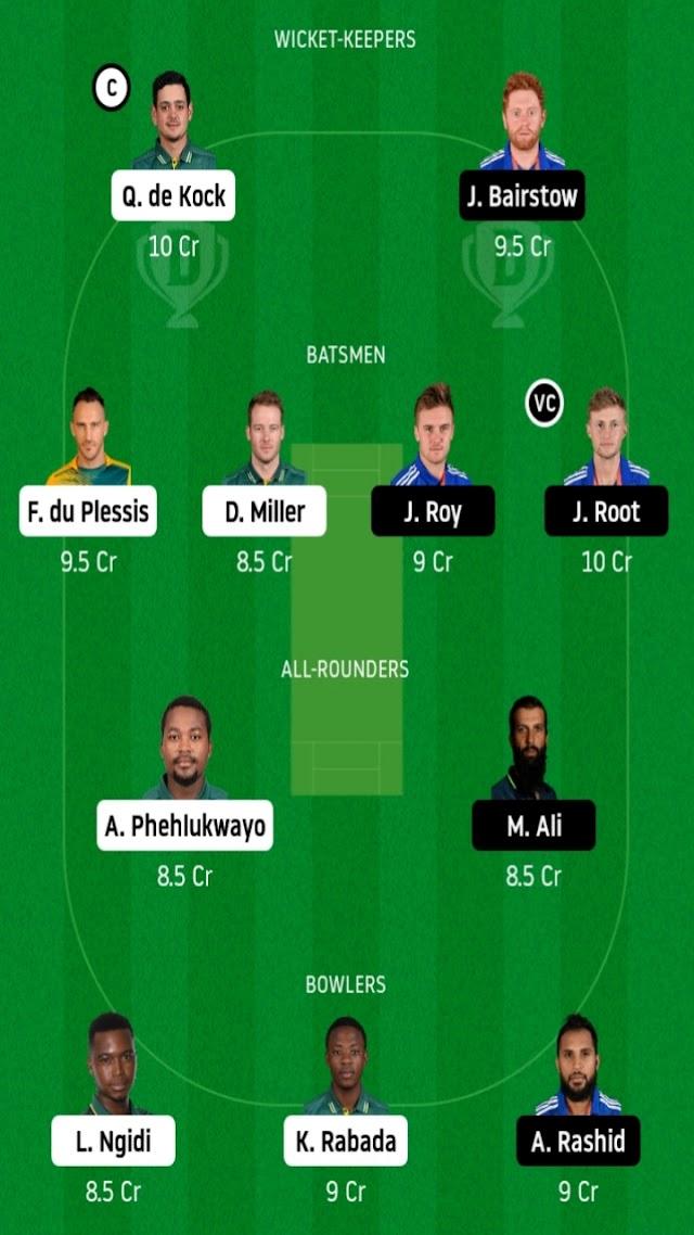 SA VS ENG fantasy11 prediction