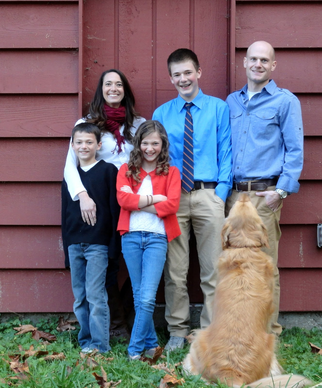 family pictures with dog