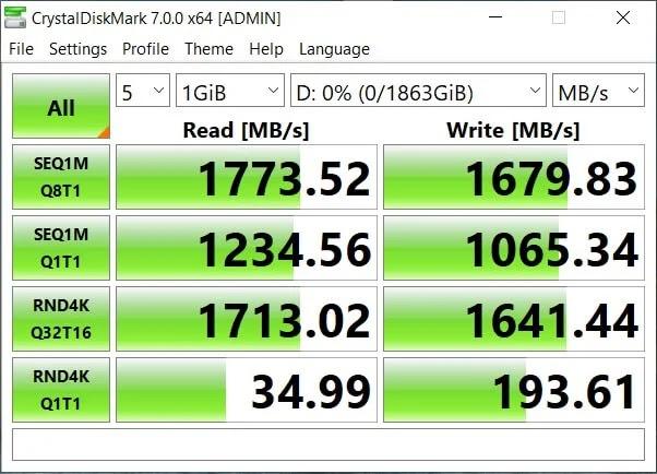Seagate FireCuda 510 SSD CrystalDiskMark Benchmark Result