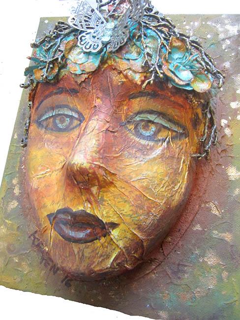 Mixed Media 3D Face Mask Workshop – Keren Tamir
