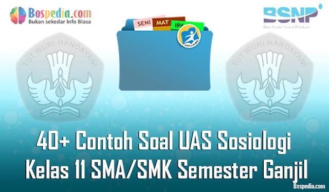 40+ Contoh Soal UAS Sosiologi Kelas 11 SMA/SMK Semester Ganjil Terbaru