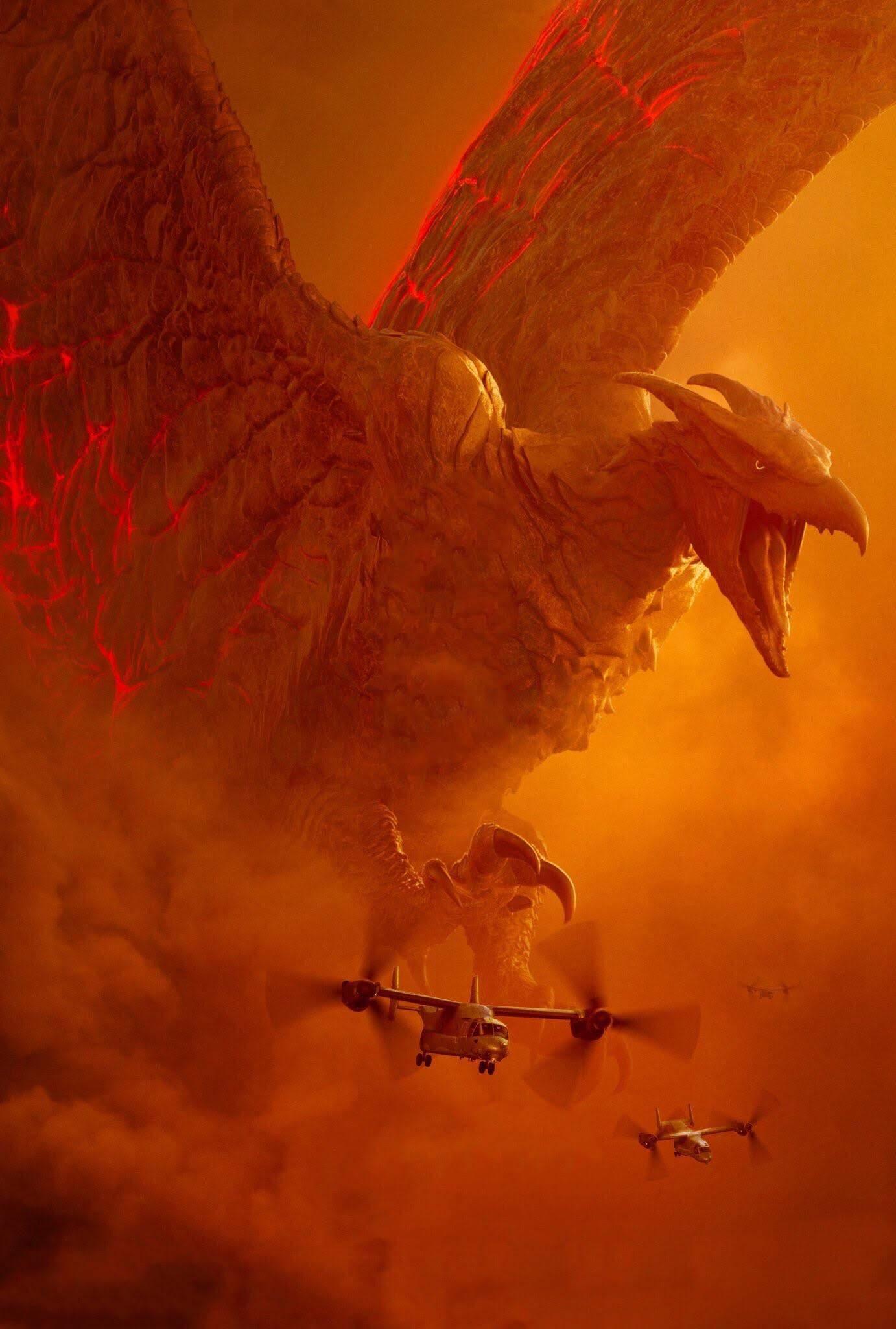 Godzilla King of the Monsters Textless Posters : ハリウッド版「ゴジラ」の第2弾「キング・オブ・ザ・モンスターズ」の怪獣ポスターはよいのだけれど、スマホやタブレットの待ち受けにするには、文字がない方が…という怪獣ファンの人には打ってつけの素のオリジナル・アート ! !
