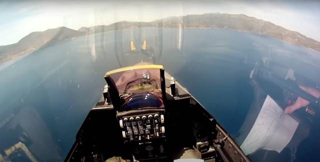 Πτήση με F-16 πάνω από την Πελοπόννησο - Εικόνες που κόβουν την ανάσα (βίντεο)