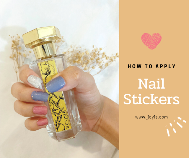 DIY nails with Nail Stickers