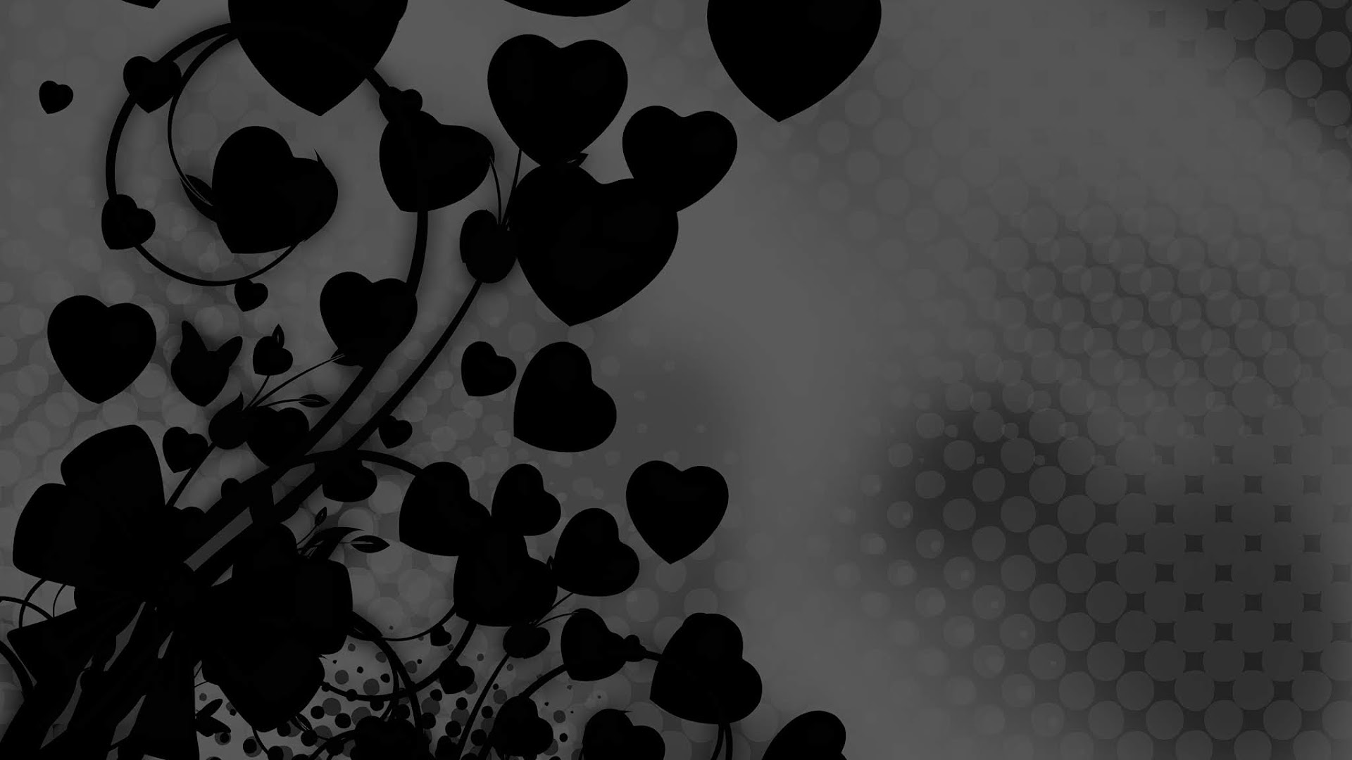 Black Valentine Backgrounds with black hearts