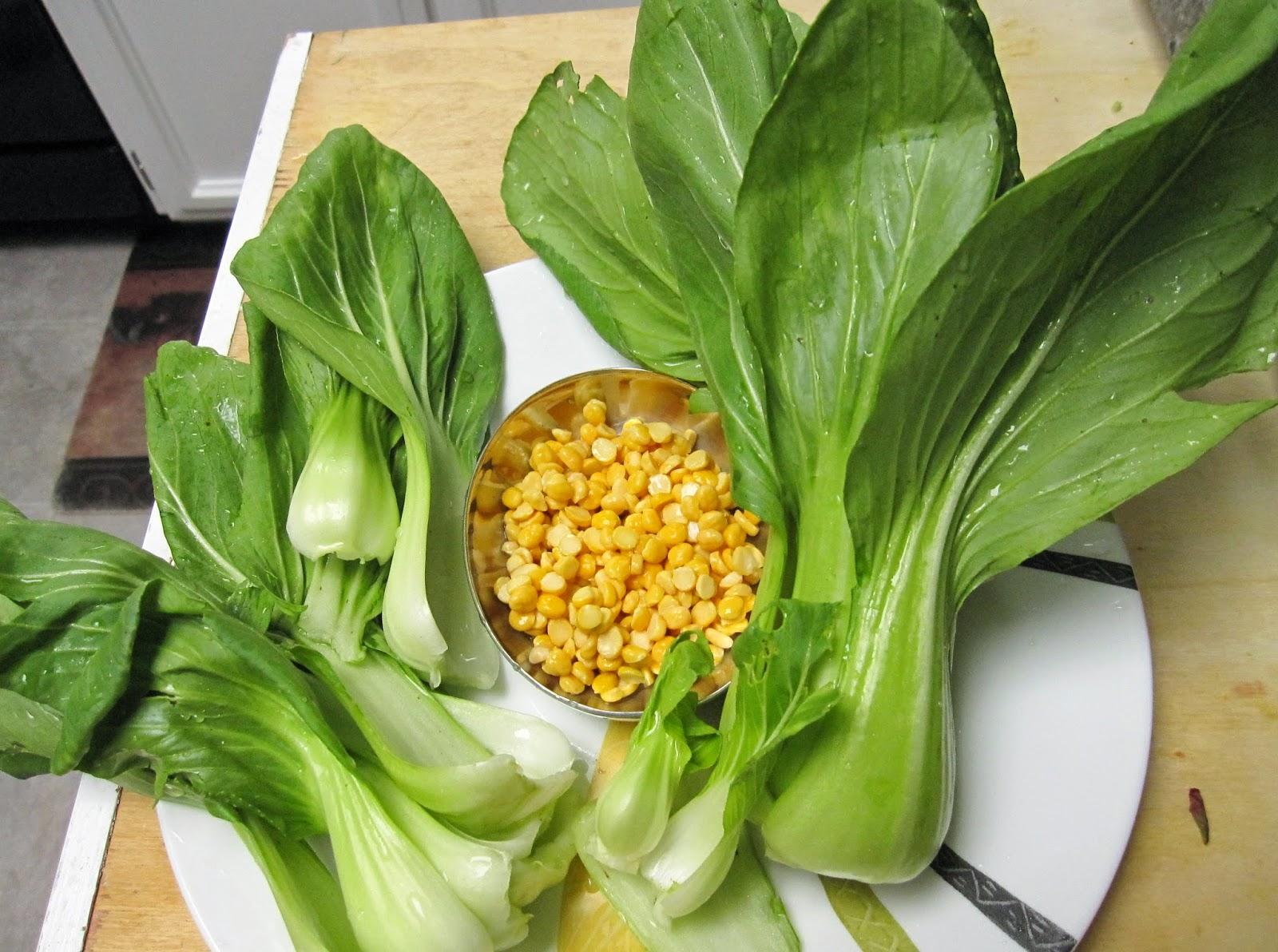 Sita39s Ruchulu Baby bok choychinese cabbage subzi