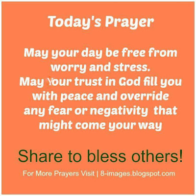 """Prayer For A Stress Free Day"""