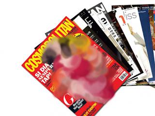 majalah memuat gambar wanita yang membuka wajah