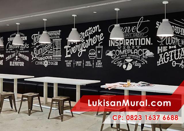 Café mural wallpainting