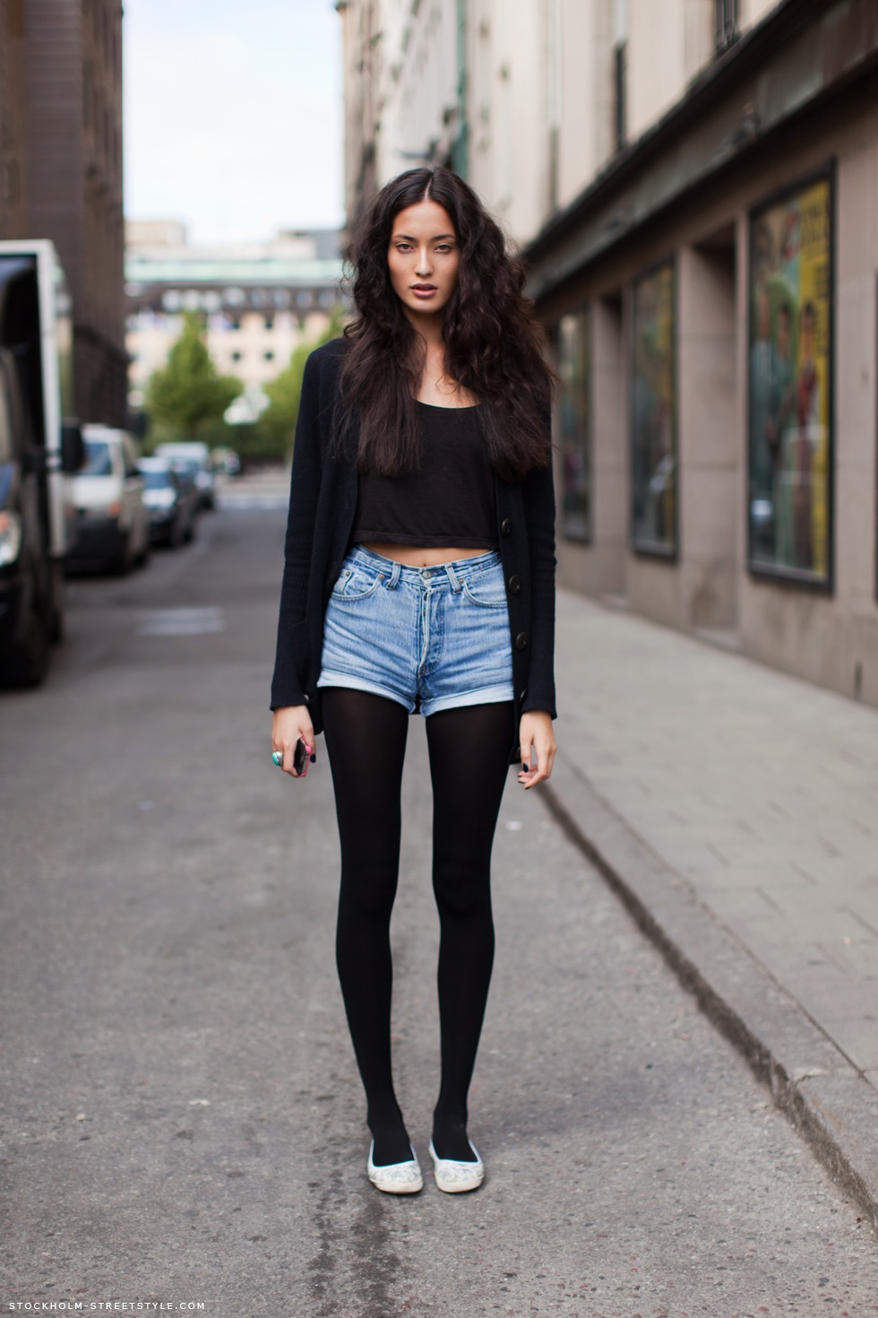 Girls Wearing Shorts And Tights