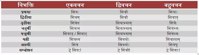 शिव शब्द के रूप संस्कृत में, Shiv Shabd Roop in Sanskrit, Shiv Shabd Roop in Sanskrit, शिव शब्द अजन्त