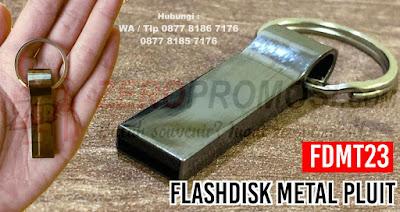 Flashdisk Promosi FDMT23, Souvenir USB Metal bentuk Pluit, Flashdisk Metal, usb gantungan kunci, flashdisk pluit